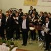 Die Brass Band Oberschwaben-Allgäu nimmt den Applaus entgegen